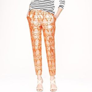 J. Crew Collection Gilded Brocade Cropped Pant